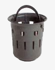 Slit bucket similar to DIN 1236 for yard drains, low design, with foot edge